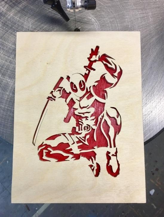 Top Deadpool Stencil Art Free Deadpool | Wood Crafting | Scroll Saw Patterns, Scroll Saw Photos