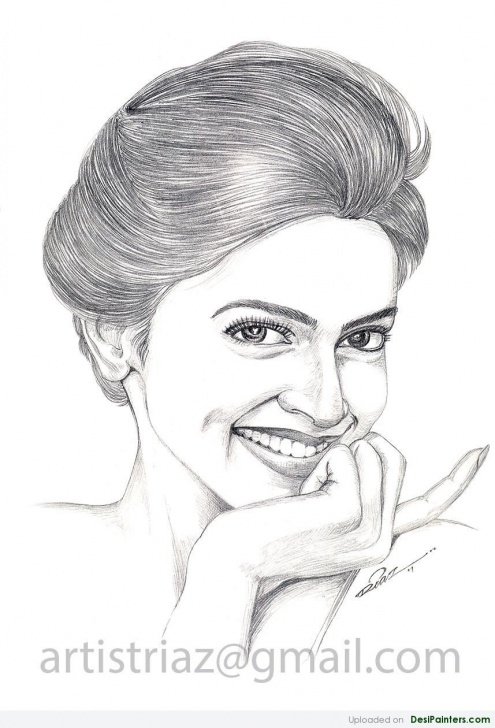 Top Deepika Padukone Pencil Drawing Techniques Pencil Sketch Of Deepika Padukone | Desipainters Pics