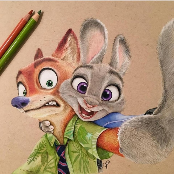 Top Disney Colored Pencil Drawings Simple Amazing Colored Pencil Drawings Works By Julianna Maston | Cartoon Images