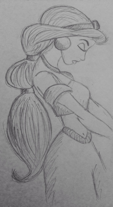 Top Disney Pencil Sketches Free Princess Jasmine Aladdin Disney Pencil Sketch | Sketching It Up In Images