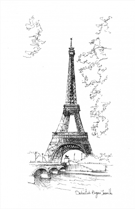 Top Eiffel Tower Pencil Sketch Techniques Eiffel Tower Drawing Sketch Simple Picture