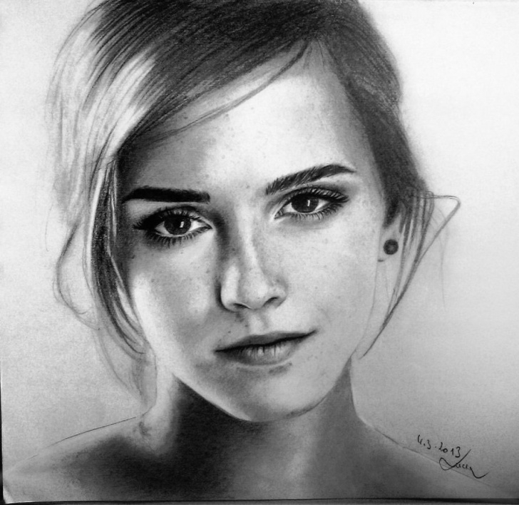 Top Emma Watson Pencil Drawing for Beginners Emma Watson Pencil Sketch And Pencil Drawing (X-Post From /r/drawing Picture