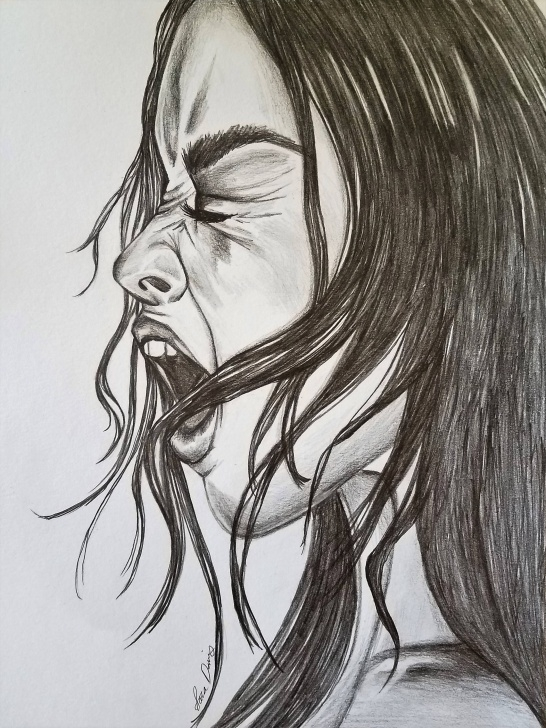 Top Emotional Pencil Sketches Lessons Screaming, Dark, Art, Drawing, Dark Art, Dark Drawing, Emotional Pictures