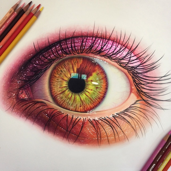 Top Eye Color Pencil Drawing Techniques for Beginners Morgan Davidson Is A Very Talented Illustrator Who Uses Colored Photo