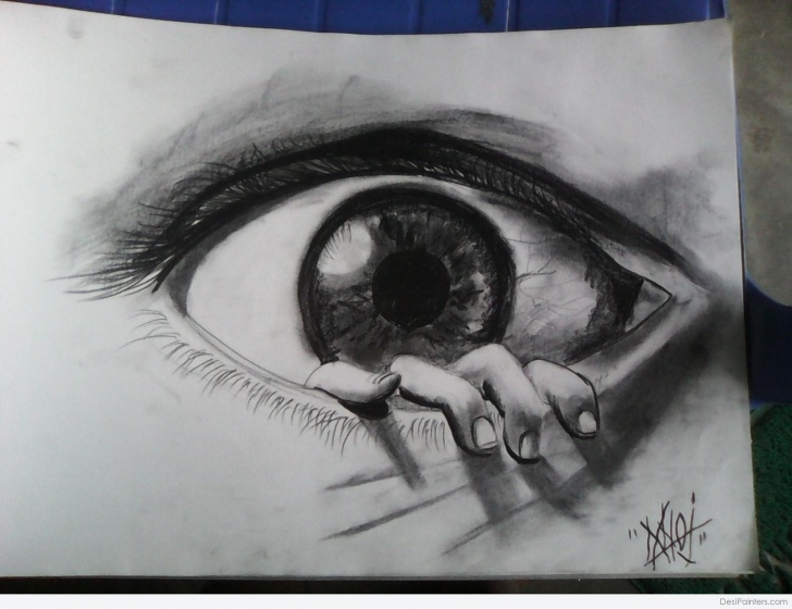 Top Eye Painting Pencil Techniques for Beginners 3D Pencil Sketch Of Eye | Desipainters Picture