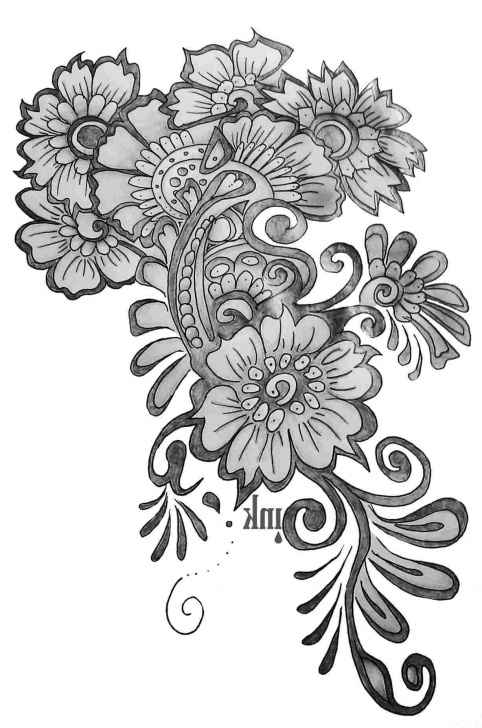 Top Flower Design Pencil Drawing Techniques Simple Flower Designs For Pencil Drawing Borders Images