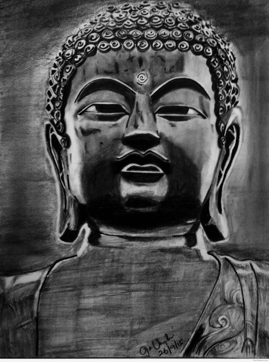 Top Gautam Buddha Pencil Sketch Lessons Pencil Sketch Of Buddha Ji | Desipainters Pic