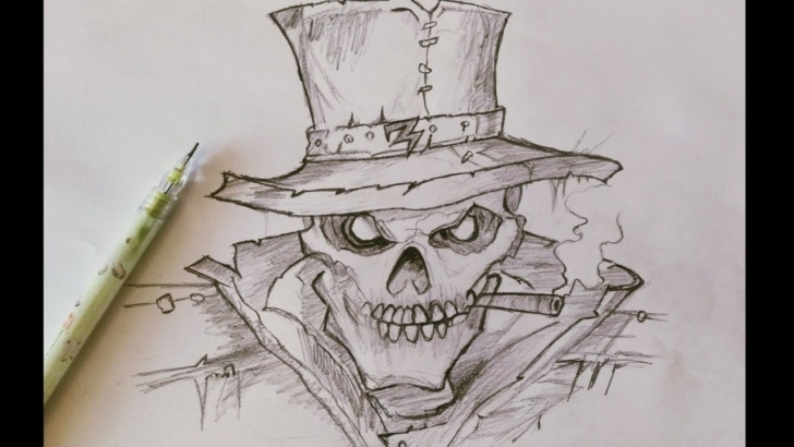 Top Ghost Rider Drawings In Pencil Step by Step M Penciltalk || Pencil Drawing No3 ||Ghost Rider/ Skull Pic