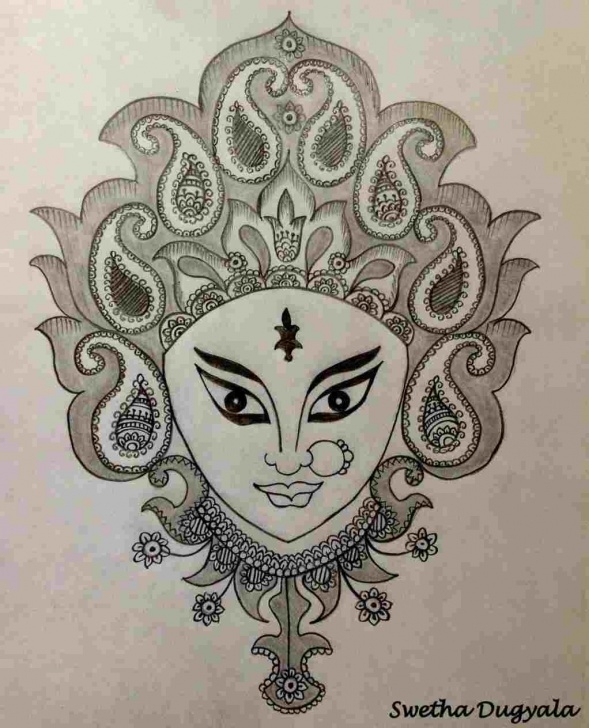 Top Goddess Lakshmi Pencil Sketches Simple Sketch Of Lord Ganesha And Goddess Lakshmi Durga Rhdesipainterscom Images