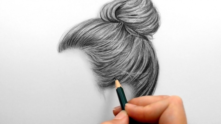 Top Hair Pencil Drawing Tutorial Drawing And Shading A Realistic Hair Bun With Graphite Pencils Photo