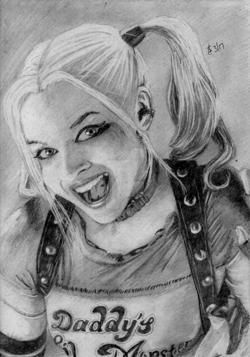 Top Harley Quinn Pencil Drawing Techniques Pencil Drawing Of Harley Quinn | Harley Quinn By Mercuryrapids On Pictures