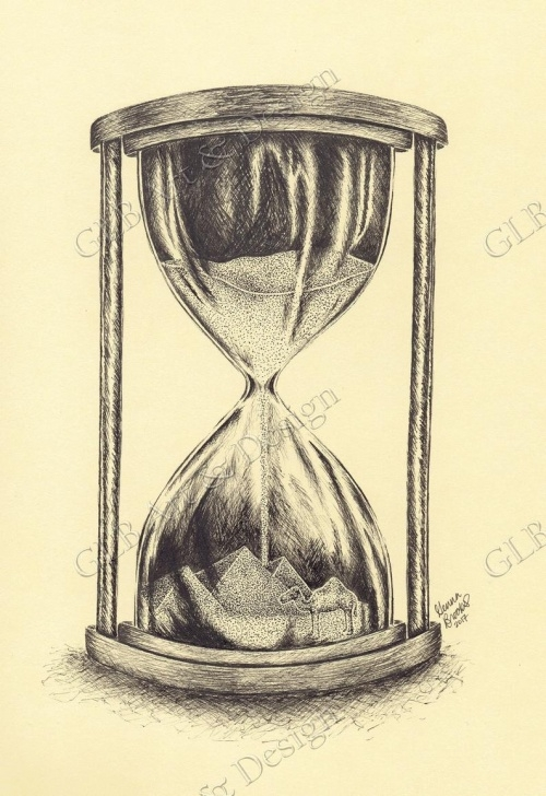 Top Hourglass Pencil Drawing Lessons Hourglass Drawing At Paintingvalley | Explore Collection Of Pic
