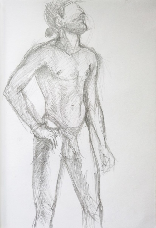 Top Human Body Pencil Drawing Techniques for Beginners Sketch Of Human Body. Man 12 Image