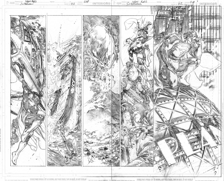 Top Ivan Reis Pencils Techniques Comic Art Shop :: Chiaroscuro Studios's Comic Art Shop :: Superman Photo