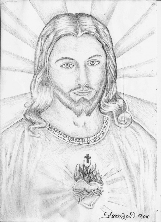 Jesus Christ Pencil Drawing