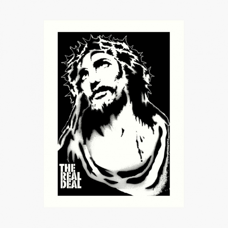 Top Jesus Stencil Art Step by Step Jesus Stencil | Art Print Pics