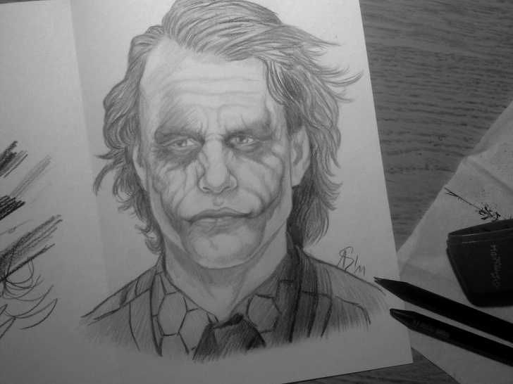 Top Joker Pencil Sketch Courses Joker Drawing, Pencil, Sketch, Colorful, Realistic Art Images Photo