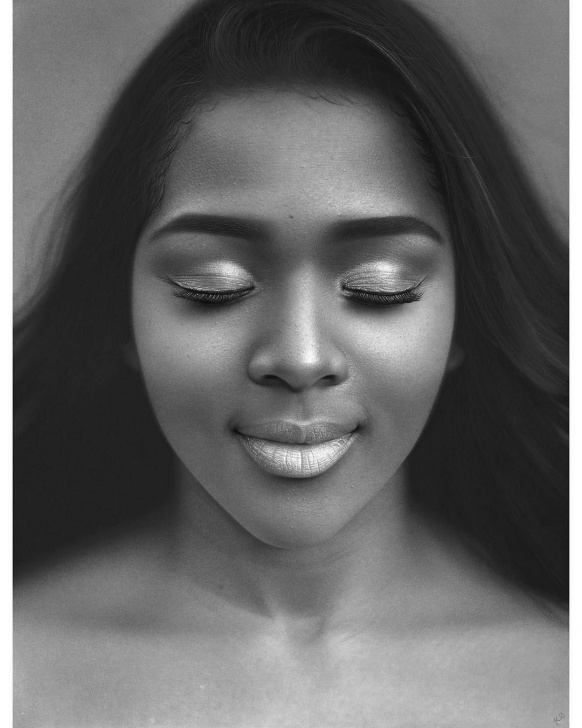 "Top Kelvin Okafor Art Simple Kelvin Okafor On Instagram: """"Kerry's Interlude Ii"", 2018 Graphite Image"