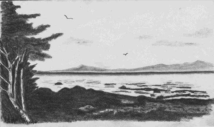 Top Lake Pencil Drawing Ideas Quick-Lake-View-Landscape-Using-Scratch-Technique-Rhyoutubecom Images