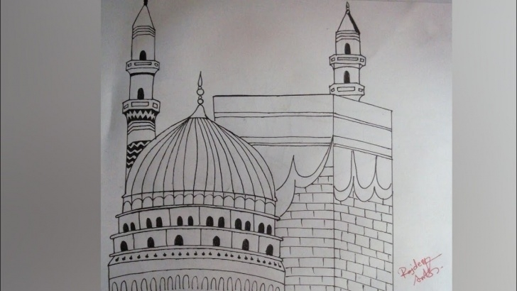 Top Makka Madina Drawing Tutorial Makka Madina Drawing Easy Step For Kids Image