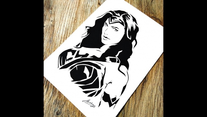 Top Marvel Stencil Art Lessons How To Draw Wonder Woman | Gal Gadot | Stencil Art | Dc Comics Pictures