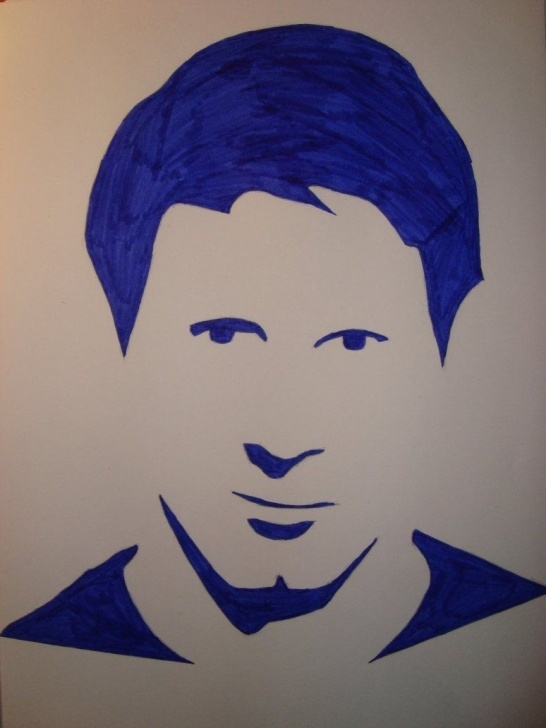 Top Messi Stencil Art Easy Lionel Messi Silhouette Portrait By Only1Tosse | Drawing References Photo