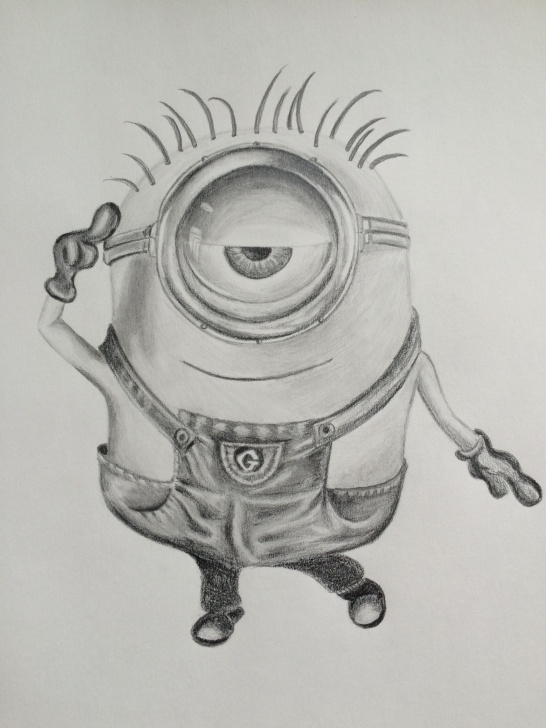 Minion Pencil Drawing