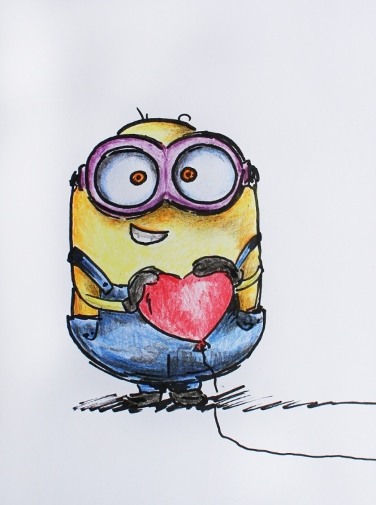 Top Minion Pencil Drawing Easy Tutorial: How To Draw A Minion With Pencils - Yana Travelart Picture