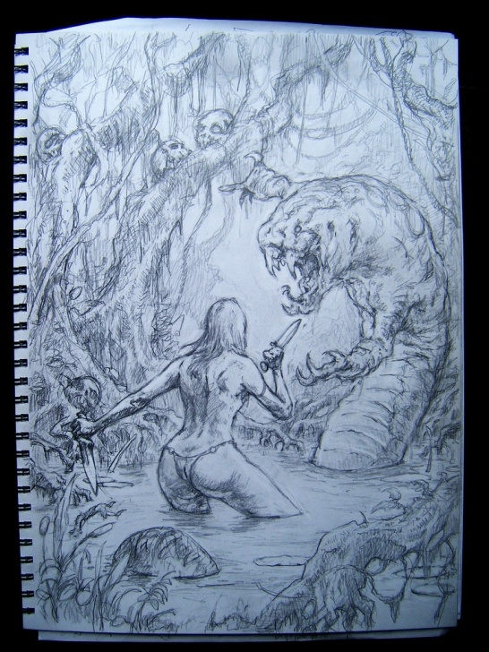 Top Monster Pencil Drawing Techniques Swamp Monster Drawing | Pencil Layout For A Painting I Never… | Flickr Pictures