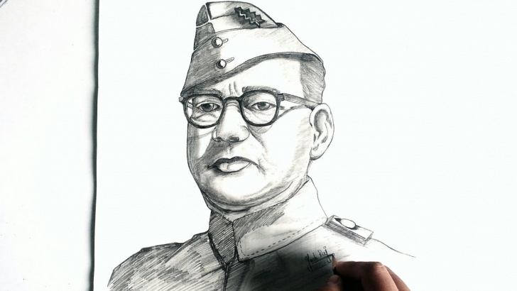 Top Netaji Subhas Chandra Bose Pencil Sketch Simple How To Draw Netaji Subhash Chandra Bose || Simple Sketch Tutorial Of  Subhash Chandra Bose By Art4All Pictures