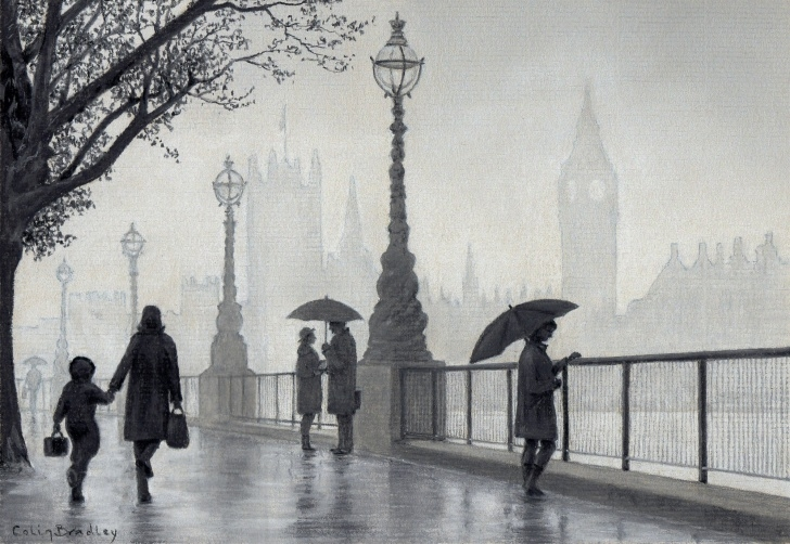 "Top Pastel Pencil Artists Easy London In The Mist"" Pastel Pencil Landscape With 5 Pencils 