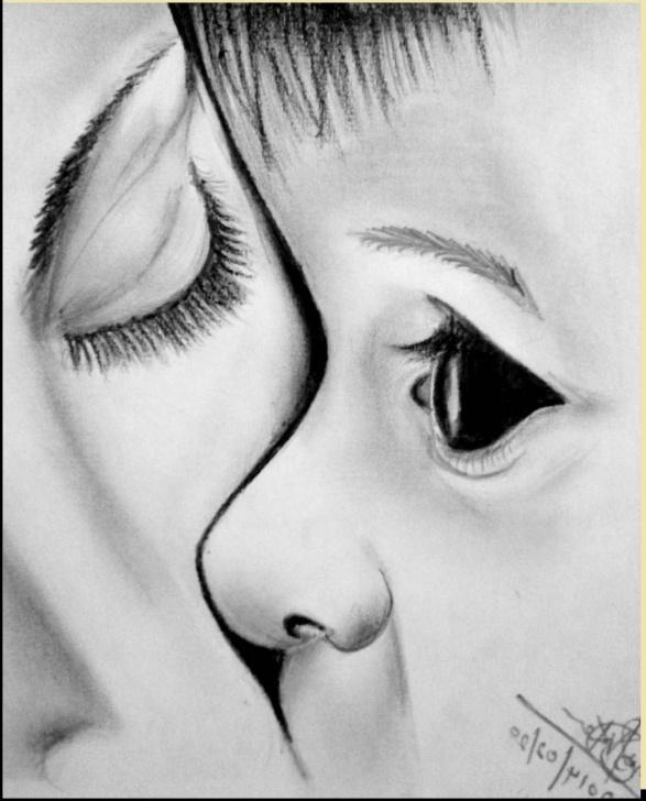 Pencil Drawing Baby