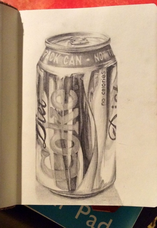 Top Pencil Drawing Projects Easy Cylinder Pencil Sketch Ideas And Coke #can #pencil #drawing Picture