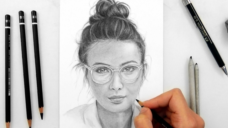 Top Pencil Drawing Woman Techniques for Beginners Drawing A Woman With Glasses With Staedtler Graphite Pencils Pic