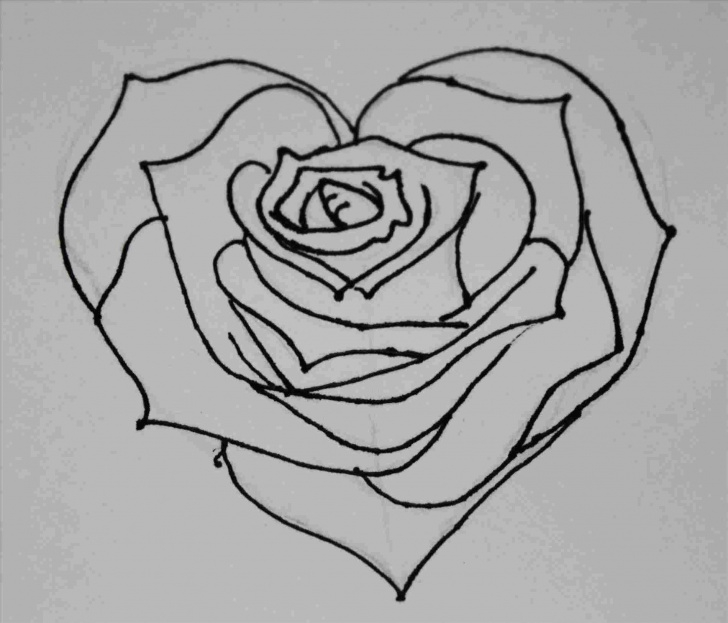 Top Pencil Drawings Of Roses And Hearts Courses Easy Pencil Drawings Of Roses And Hearts Heart Rose Colour Pencil Images