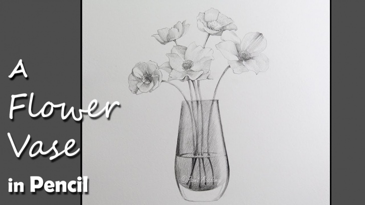 Top Pencil Sketch Of Flower Vase Simple Drawing A Flower Vase In Pencil Pictures