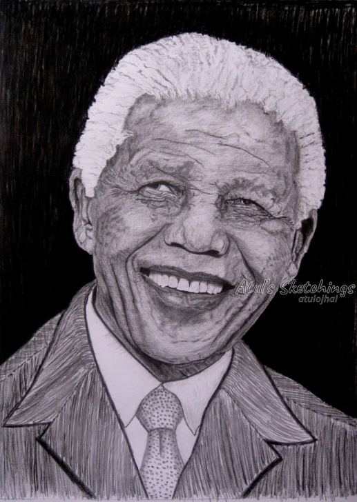Top Pencil Sketch Of Nelson Mandela for Beginners Nelson Mandela Photo