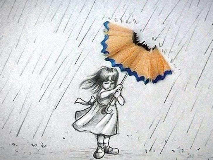 Top Pencil Sketches Of Girl In Rain Ideas Pencil Sketch Of Rain And Girl In Rain Drawing Drawn Umbrella Pencil Pics