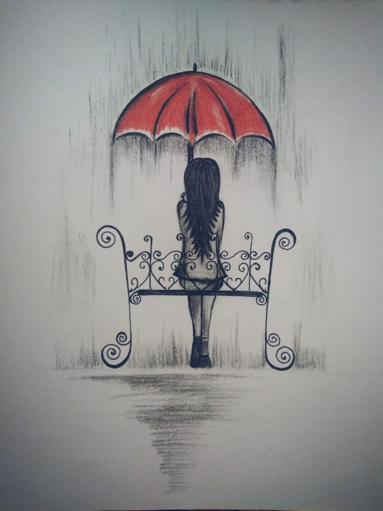 Rainy Day Pencil Drawing