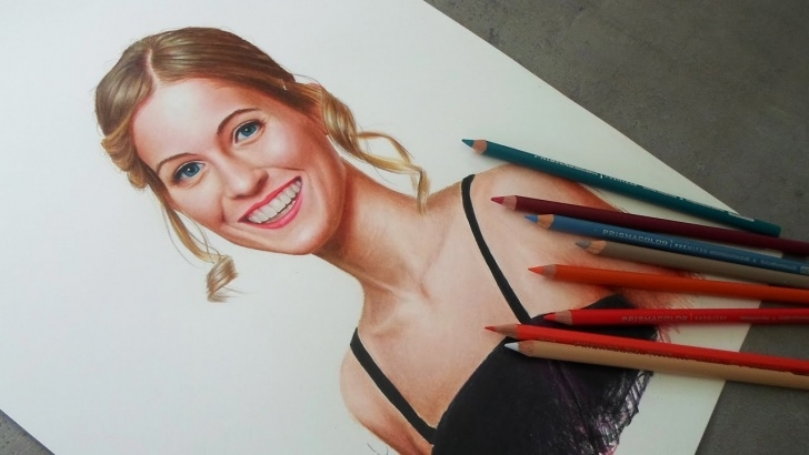Top Realistic Colored Pencil Drawings Lessons Realistic Portrait Drawing - Pirmsacolor Colored Pencils Photos
