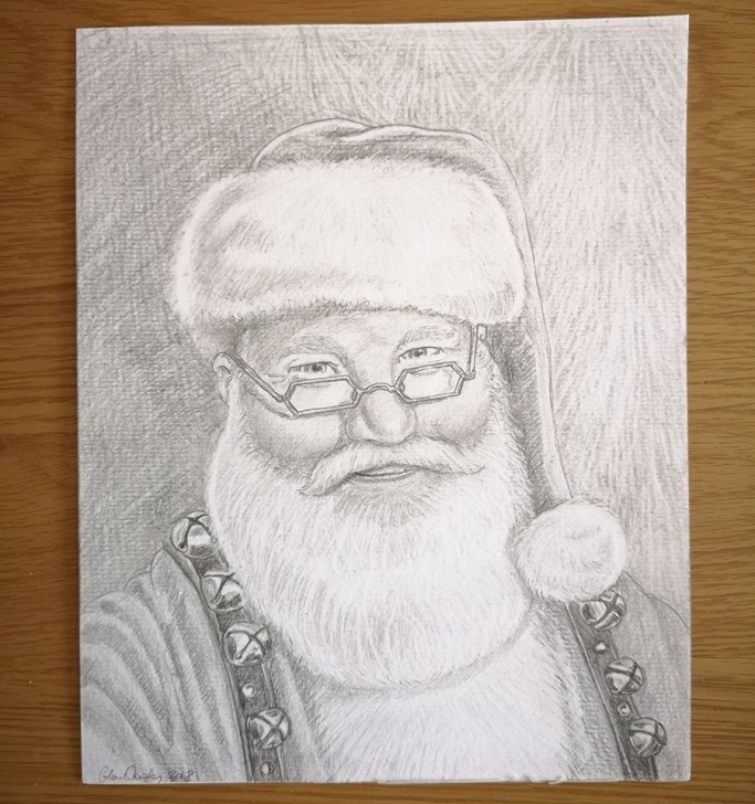 Top Santa Pencil Drawing Simple Santa Pencil Drawing At Paintingvalley | Explore Collection Of Pictures