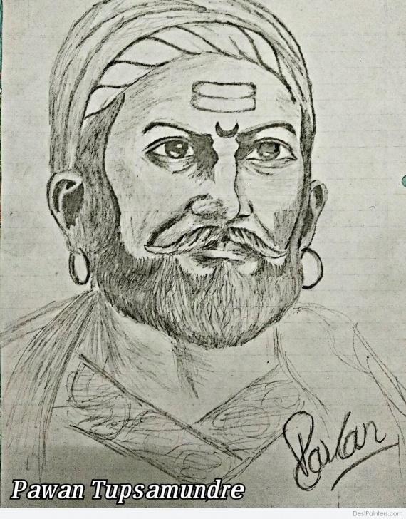 Top Shivaji Maharaj Pencil Sketch for Beginners Great Pencil Sketch Of Shivaji Maharaj | Desipainters Pic