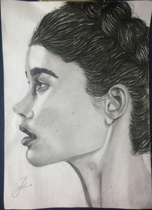 Top Side Portrait Drawing Simple Sameer Asif, Side Way Portrait Images