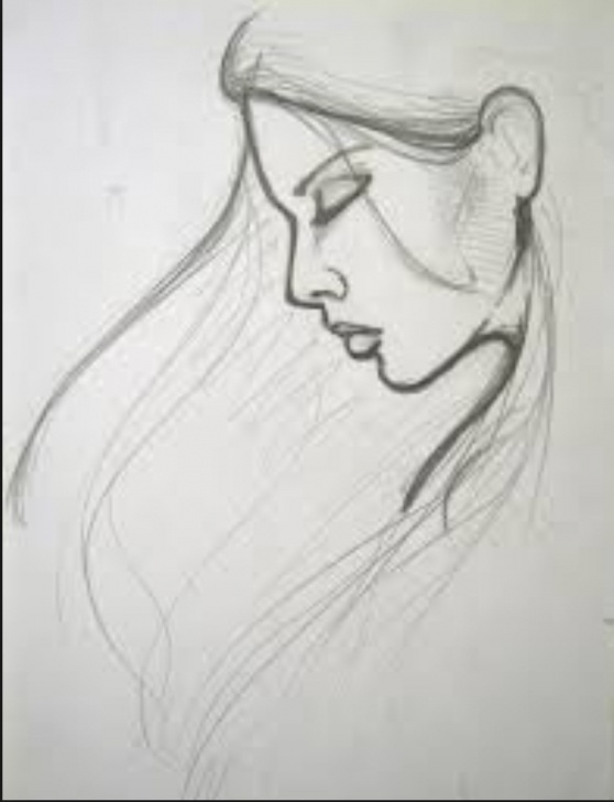 Top Simple Pencil Sketch Of Girl Lessons Simple Pencil Sketch Drawing And Drawing Of Girl Easy Pencil Images
