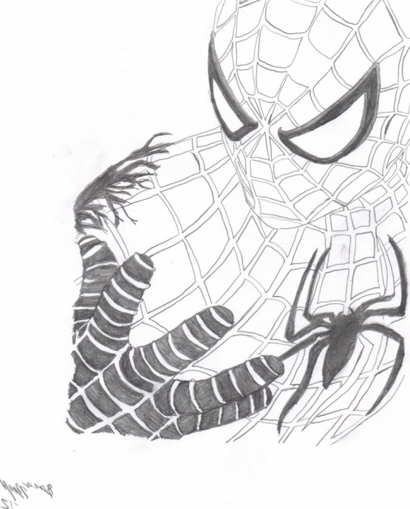 Top Spiderman Drawings In Pencil Easy Tutorial Spiderman Drawing Sketch And Spiderman Drawings In Pencil Easy Easy Picture