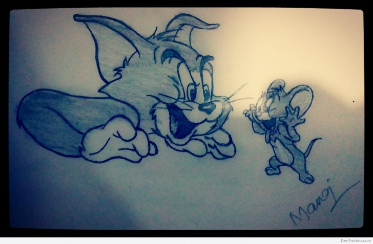 Top Tom And Jerry Pencil Sketch Lessons Pencil Sketch Of Tom And Jerry | Desipainters Image