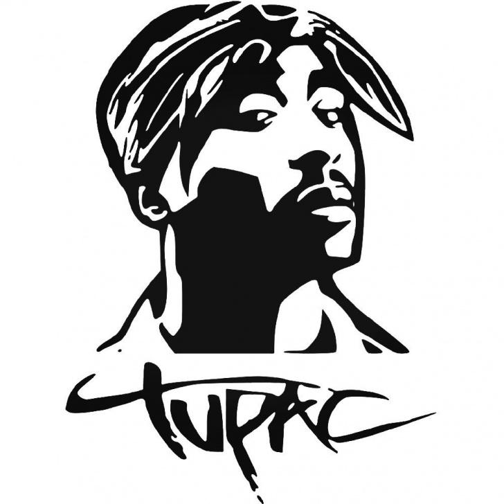 Top Tupac Stencil Art for Beginners Tupac Full Vinyl Decal Sticker Ballzbeatz . Com | Cricut/ljc In 2019 Pic