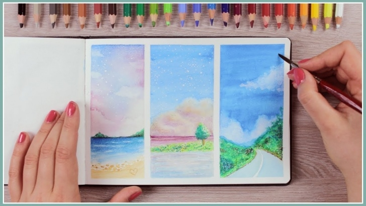Top Watercolor Pencil Projects for Beginners How To Paint With Watercolor Pencils - Painting Ideas For Beginners | Art  Journal Thursday Ep. 40 Photos
