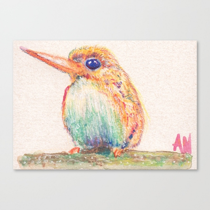 Top Watercolor Pencils On Canvas Lessons Birds Collection In Watercolor Pencils Canvas Print Images