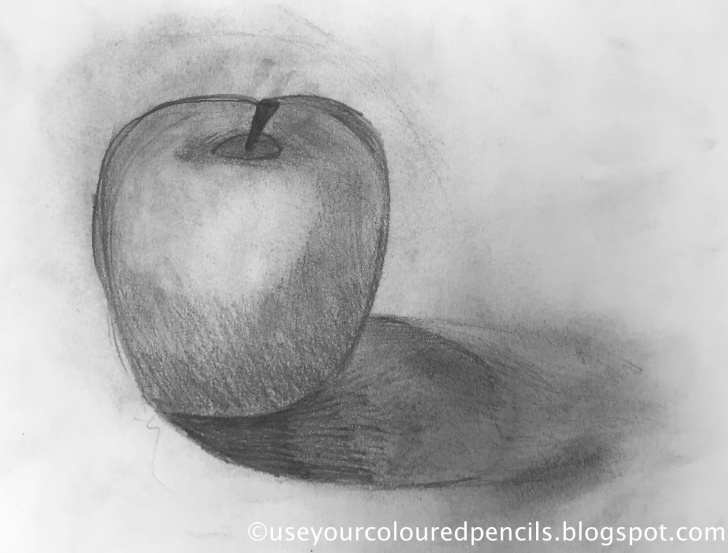 Wonderful Apple Still Life Drawing Techniques for Beginners Use Your Coloured Pencils: Still Life Apple Drawings Pics